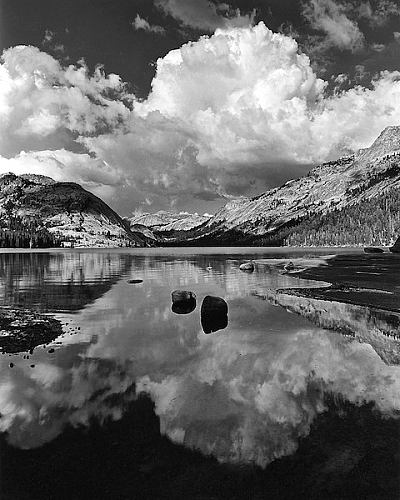Floating Erratics and Cumulus, Tenaya Lake